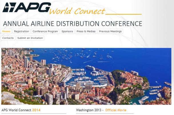 La prochaine édition d'APG World Connect se déroulera du 29 au 31 octobre 2014, à Monaco - Capture d'écran
