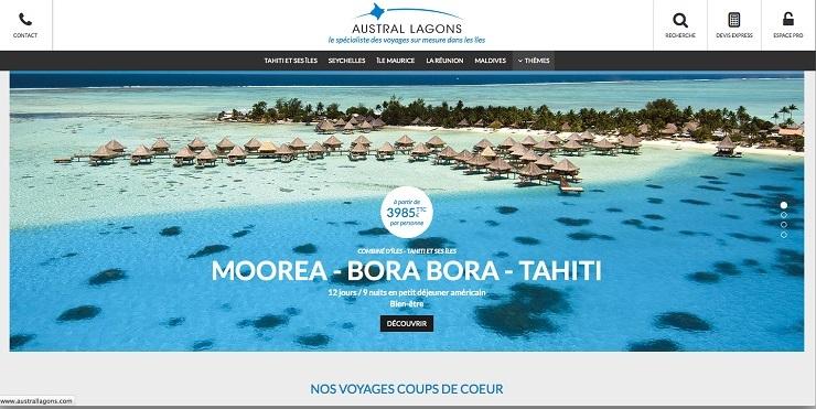 Le site est construit avec les codes actuels : sobre, élégant, clair en responsive design.