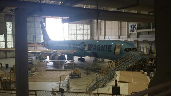Le Boeing 757-200 de la Compagnie n'est pas encore arrivé à Paris, alors que son vol inaugural devait décoller le 11 juillet. © Twitter Eric @GoldboxATL