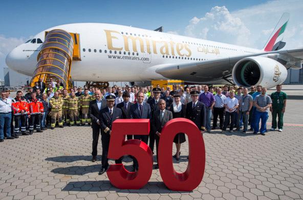 Emirates reçoit son 50e A380