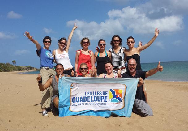 Les vainqueurs du challenge de vente Guadeloupe ont validé leur certification d'expert de la destination en participant à un éductour, du 23 au 28 juin 2014 - DR : Celtea Voyages