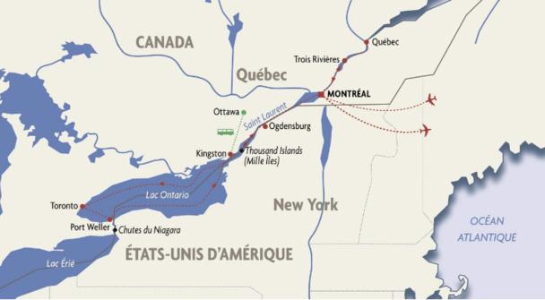 Rivages du Monde lance une croisière de Québec aux Chutes du Niagara
