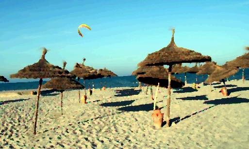 La Tunisie reçoit plus de 6 millions de touristes internationaux chaque année, dont environ 10 % sont des Français (cliquer pour agrandir)