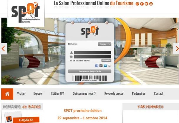 me édition de SPOT (Salon Professionnel Online du Tourisme) se déroulera du 29 septembre au 1er octobre 2014.