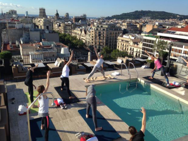 """Majestic Spa de Barcelone : Hatha Yoga et petit-déjeuner """"healty"""" pour partir du bon pied !"""