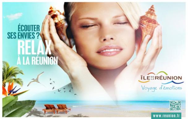 Le nouveau visuel de la campagne de communication de l'île de la Réunion. DR