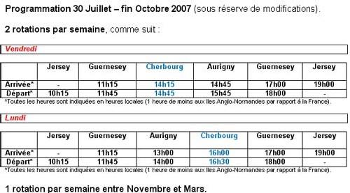 hdferries.com : nouvelles lignes Cherbourg vers les îles Anglo-Normandes