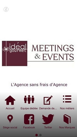 La nouvelle application mobile de Ideal Gourmet Meetings & Events est disponible gratuitement - DR