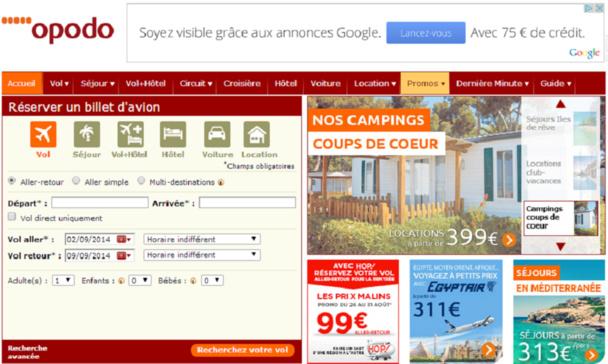 Des clients suisses mécontents d'Opodo ont décidé de porter plainte au pénal - Capture d'écran