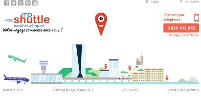 MP Shuttle propose 110 points de rendez-vous pour la prise en charge des passagers à Marseille - Capture d'écran