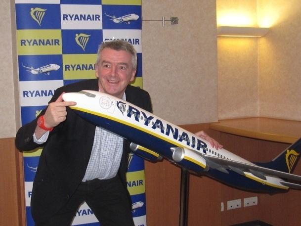 Michael O'Leary veut aujourd'hui séduire les hommes d'affaires. DR