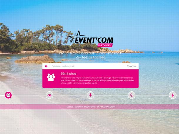 Le site Internet d'Event'Com Voyages sera opérationnel dans deux mois environ - DR