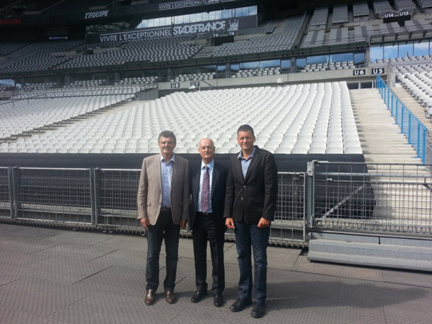 Alain Amade, President of France Sport/TO Sport, Gilbert Cisneros, President  of the  Group Exotismes and Laurent Gillard, Manager of VO2max voyages - DR
