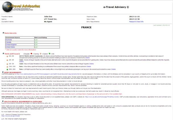 : L'interface d'E-Travel Technologie, le nouveau service associé à Travelport
