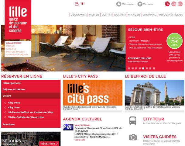 Le nouveau site de l'office de tourisme et des congrès de la ville de Lille - DR