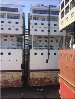 L'Armonia a été coupé en deux et un nouvel élément a été inséré entre les deux parties - Photo DR