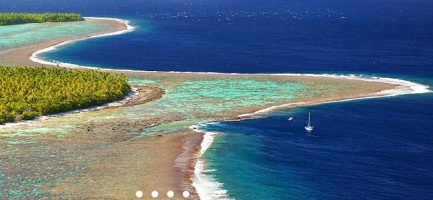 L'hôtel de  de Marlon Brando sur l'atoll de Tetiaroa, la nouveauté de la brochure Austral Lagons en Polynésie. DR