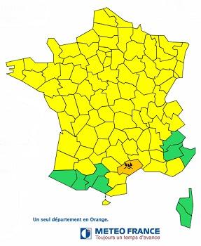 L'Hérault est le seul département placé en vigilance orange par Météo France - DR : Météo France