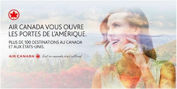 La campagne de communication d'Air Canada se décline sur le Web, dans la presse papier et en affichage à Paris - DR