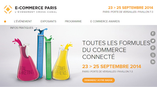 Le Salon E-Commerce Paris se tiendra du 23 au 25 septembre - DR