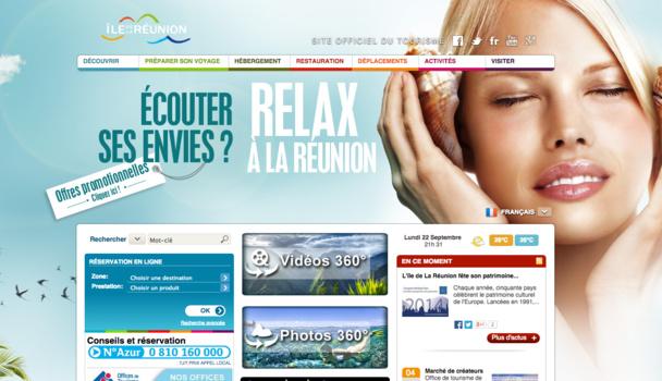 """Le nouveau site internet de l'Île de la Réunion se veut plus """"inspirationnel"""". DR"""