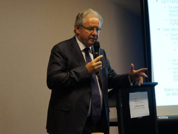 """""""Au mois de juin nous annoncions que nous ferions un été à l'équilibreet nous sommes arrivés à une légère progression du volume d'affaires (1852 M€)"""" a déclaré René-Marc Chikli, président du SETO, lors de la conférence de presse organisée à l'IFTM Top Resa - Photo CE"""