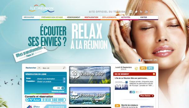"The Reunion Island's new website wants to be more ""inspirational"". DR"