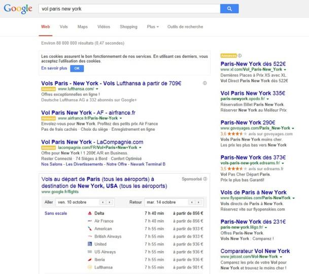 """""""La première page de recherche est 100% Google. """""""