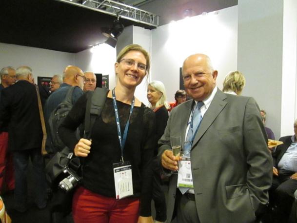 A Top Resa Raoul Nabet président de l'APST et Céline Eymery au pot de l'amitié des séniors du tourisme.de l'amitié des