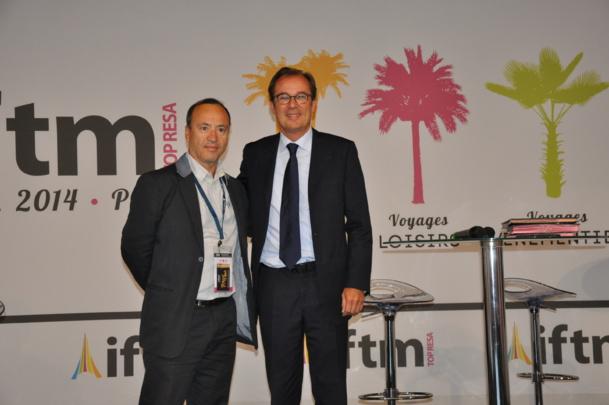 Jean da Luz a signé, avec Christian Mantei, le renouvellement pour 3 ans de leur partenariat pour les Académies du Tourisme Numérique - ©Atout France