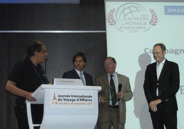 """Jet Airways a remporté le laurier d'argent de la """"Meilleure Compagnie Aérienne"""" lors de la cérémonie des Lauriers du Voyage d'Affaires - DR : Jet Airways"""