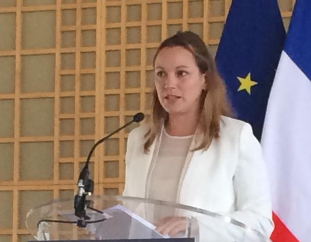 """Axelle Lemaire, secrétaire d'Etat au Numérique, a ouvert à Bercy la première édition du """"jeudigital French Tech"""" © mathilde khlat"""