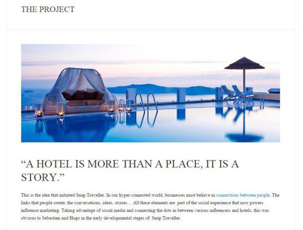 Snap Traveller, la plateforme qui connecte les hôteliers aux blogueurs