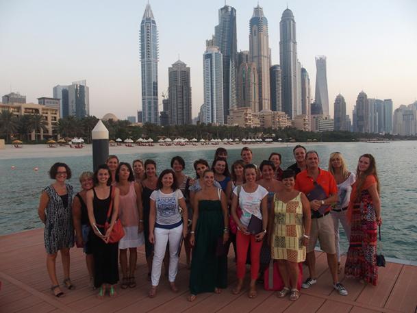 Le réseau Selectour Afat Bleu Voyages a organisé son dernier séminaire trimestriel avec les responsables de ses 21 agences loisirs à Dubaï - DR : Bleu Voyages
