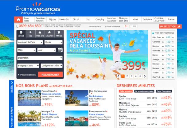 """Sur le site de Promovacances le Hammamet Village était vendu sous la dénomination """"Maxi Club Sun Garden Hammamet Village"""" - Capture d'écran"""