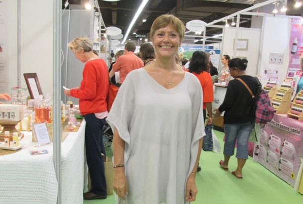 Joëlle Pietre-Sauviat sur le Salon Zen le, dimanche 5 octobre 2014 - DR : M.S.