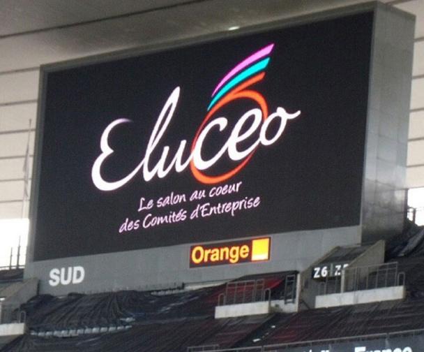 Eluceo, le salon dédié aux comités d'entreprise s'est tenu au Stade de France les 1er et 2 octobre 2014. - DR