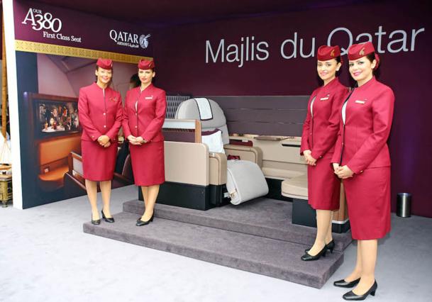 Le nouveau siège première classe de Qatar Airways présenté le week-end dernier. DR