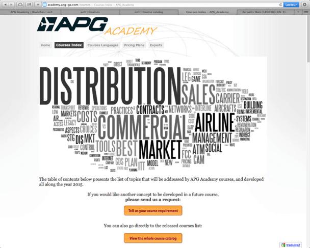 La nouvelle plateforme de cours du réseau de représentation aérien APG expliquera les grandes problématiques du secteur. DR
