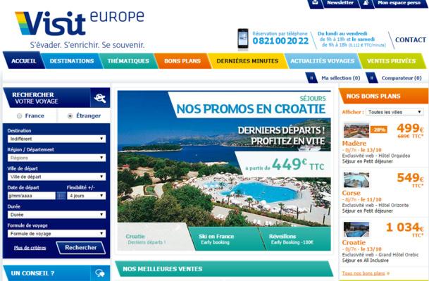 Visit Europe a connu un été 2014 compliqué, rattrapé par une hausse d'activité au printemps et au début de l'automne - Capture d'écran