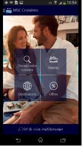La nouvelle application mobile de MSC Croisières est disponible gratuitement - DR
