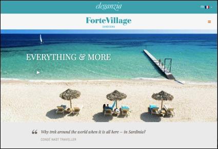 Le Forte Village Resort obtient le titre de Meilleur site Web d'hôtel et d'hébergement pour 2014 - Capture d'écran