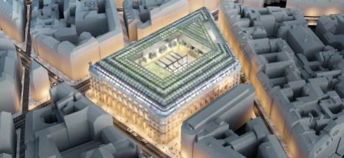 Vue générale du projet de la Poste du Louvre - DR