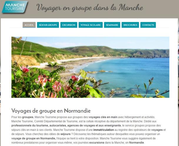Le nouveau site web dédié aux groupes dans le département de la Manche - DR