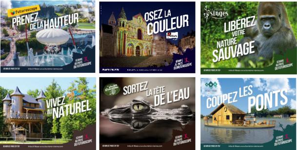 L'Agence Touristique de la Vienne promeut 6 de ses partenaires dans sa nouvelle campagne de communication dans les couloirs du métro parisien - DR