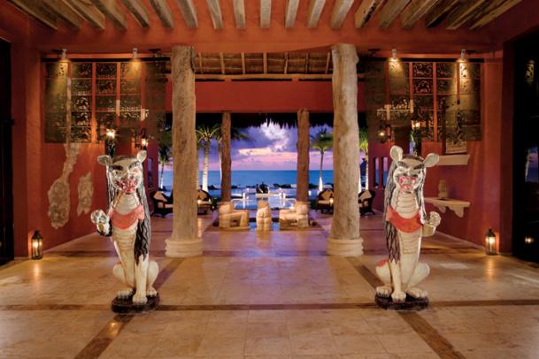 Le lobby du Zoëtry Paraiso de la Bonita (Riviera Maya, Mexique)