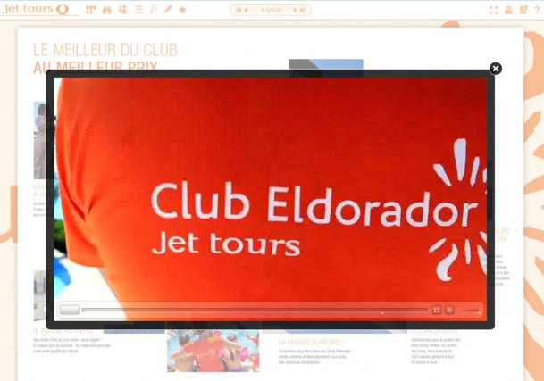 Jet tours a inséré des vidéos dans les pages de sa brochure dédiée aux clubs Eldorador - DR