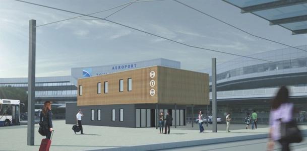 Le tramway arrivera à l'aéroport de Toulouse Blagnac dès avril 2015 - DR