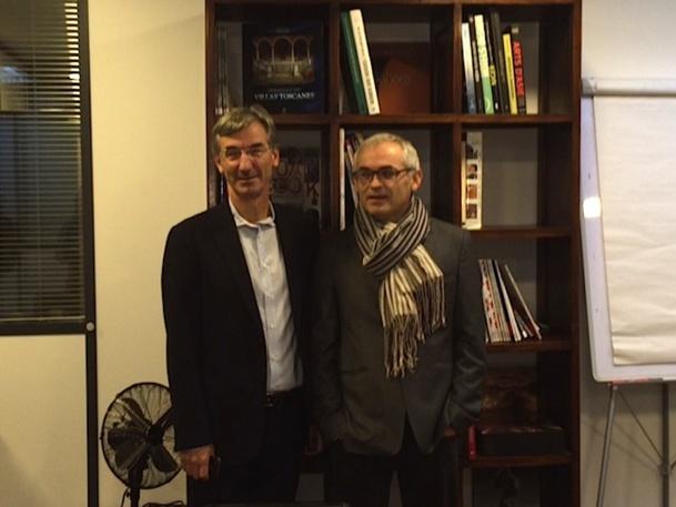 Jean-François Rial et Lionel Habasque, les dirigeants de  Voyageurs du Monde veulent rester optimistes malgré la crise. DR - Dominique Gobert.