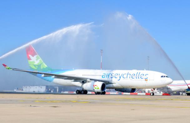 Le vol inaugural d'Air Seychelles en juillet dernier, après deux ans d'absence - DR